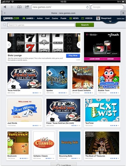 c3 AOL relaunches Games.com with a library of 5,000 titles, designed with a mobile first mentality