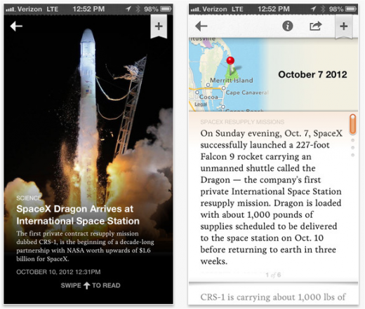 circa screenshots 520x441 Circa and the mobile revolution: How Matt Galligan & Ben Huh dared to change the news