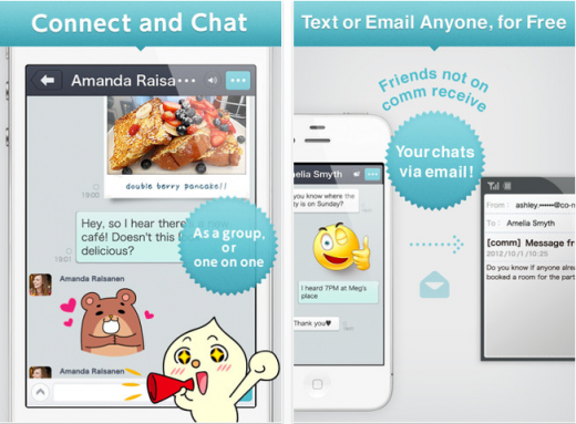 dena comm 520x383 Japans DeNA jumps into crowded messaging market with Comm app for iOS and Android