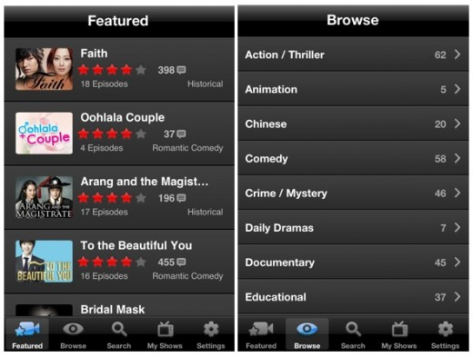 dramafever 520x393 DramaFever launches iPhone app with 13,000 hours of Asian and Spanish language TV series
