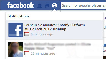 facebook event notification screen Facebook is quietly testing new event reminder notifications with some of its users
