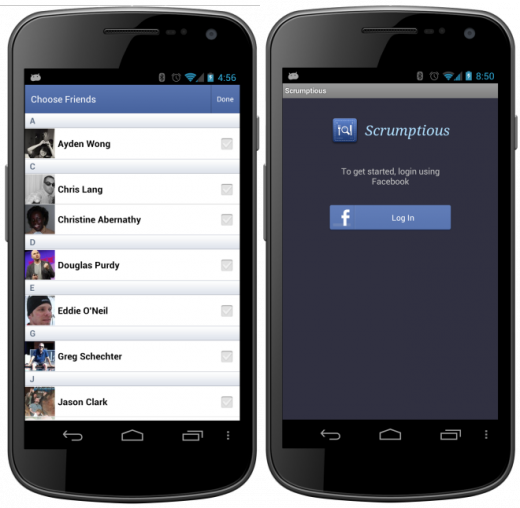 fb android sdk 520x508 Facebook announces new Android Developer Center and the biggest overhaul to its Android SDK yet