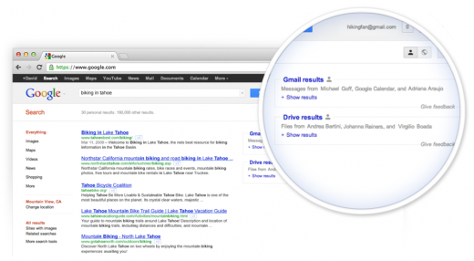 field trial 520x286 Google expands trial for including Gmail results in search box, now includes Google Drive as well