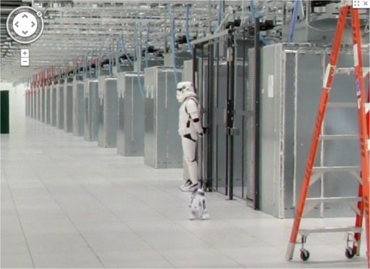 google datacenter screenshot02 520x378 Googles data center guarded by stormtroopers, warns these arent the droids youre looking for