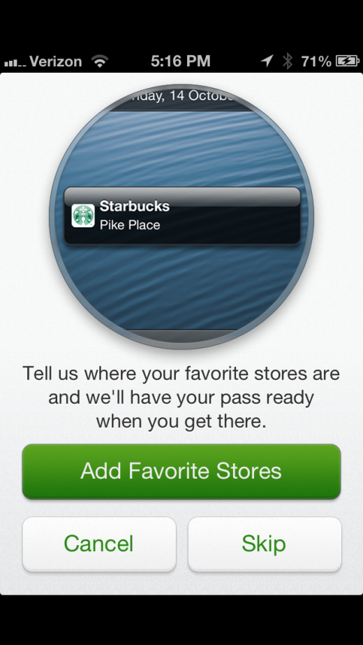 image 21 520x923 Starbucks app for iPhone adds Apple Passbook support, and it nails it