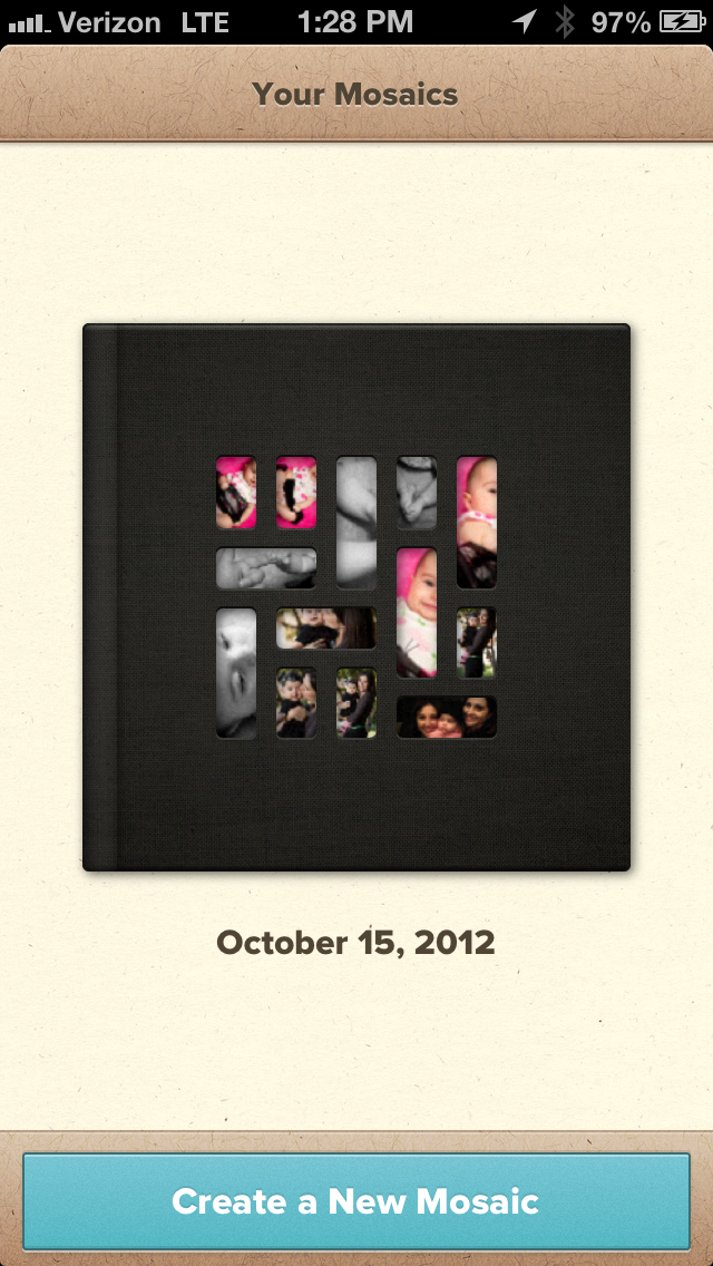 image 53 Mosaic for iPhone lets you build beautiful printed photo books in minutes for the life in between