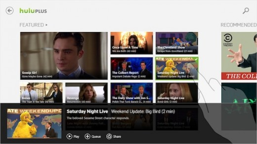 img 520x292 Hulu for Windows 8 due on October 26th, to be pre loaded on Acer and Sony tablets