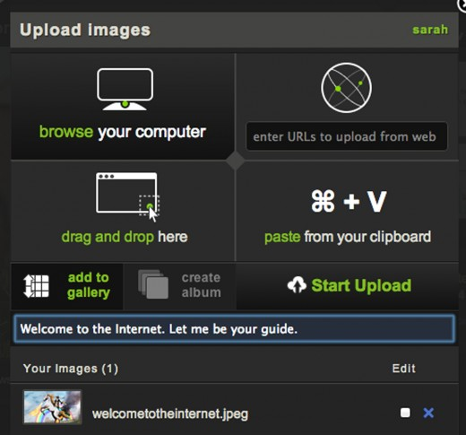 imgur uploadur 520x485 Picture sharing site Imgur gets a refresh to make the spread of viral images that bit easier