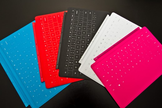 keyboards 520x346 Hands on with Microsoft's Surface RT, a worthy tablet with a quirky operating system