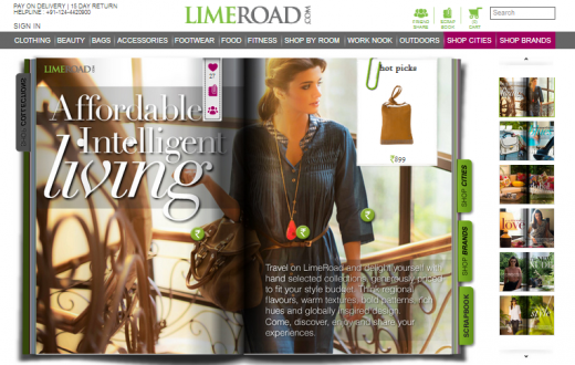limeroad 520x330 Indias LimeRoad, a new and innovative social commerce site for women, lands $5m Series A funding