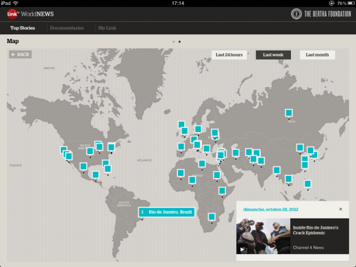 link tv app map 520x390 LinkTV World News for the iPad wants to reinvent global news for the YouTube era