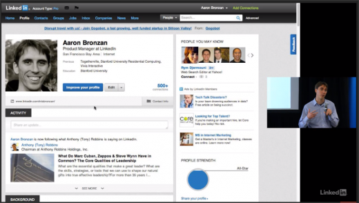 LinkedIn new profile design