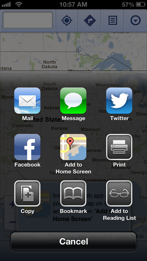 maps3 How Apple could allow apps to share and communicate better in future versions of iOS