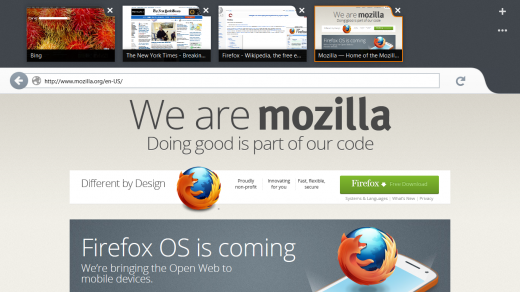 metro screenshot big 520x292 Mozilla shows off a beautiful pre release of Firefox for Windows 8