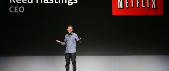 Netflix CEO Reed Hastings joins a keynot