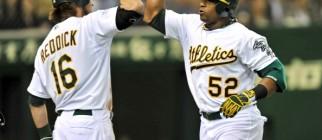 Oakland Athletics outfielder Yoenis Cesp