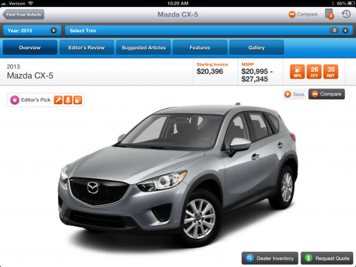 photo 22 520x390 ShopAutoWeeks feature packed iPad app is car buying research done right