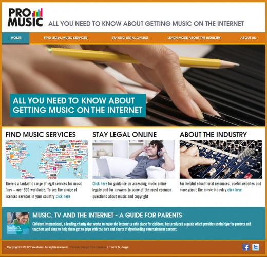 promusic screen 520x502 Pro Music overhauls its website to highlight 500 legal music services and 26 million tracks