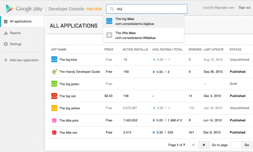 pubsites 520x312 Google Play Developer Console redesigned to improve the Android app building experience