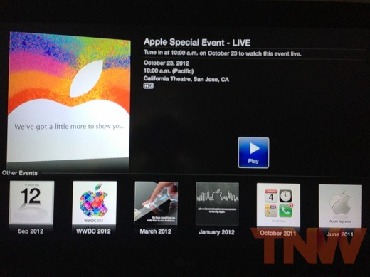 qppletv2wtmk 520x389 Apple confirms it will stream iPad Mini event via its website and Apple TV