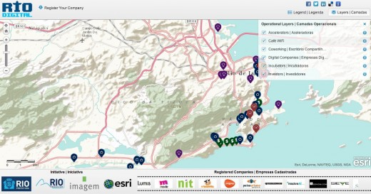 rio digital 520x273 Rio de Janeiro gets a digital map to represent its lively startup community
