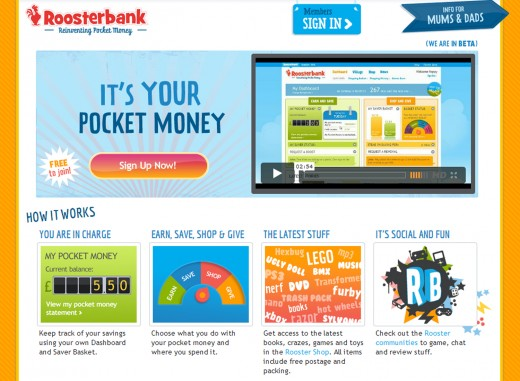 roosterbank 520x381 Roosterbank: Smart, online piggybanking for kids