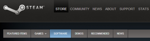 steam software 520x142 Valve is no longer just about games: Software is now available on Steam