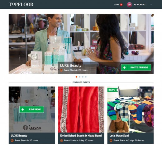 topfloor screenshot02 520x466 Science backed TopFloor raises $6m from Google Ventures, others for social shopping play