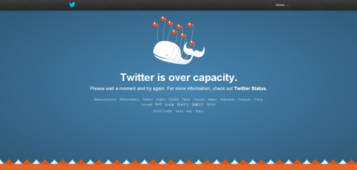 twitter fail whale 520x248 Twitter confirms some users are having difficulty accessing the service