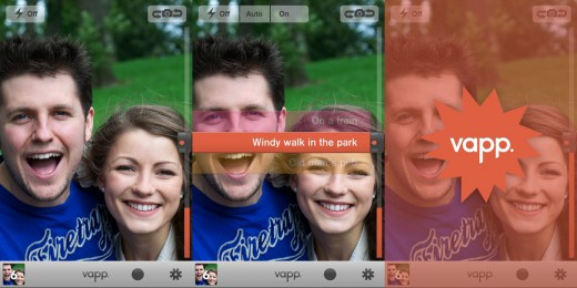 vapp screen shots 520x260 Make some noise: Glagow's O Street agency releases a sound activation app for iPhone cameras
