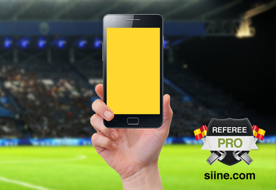 07 Todays the first time a professional soccer ref will issue yellow and red cards with a smartphone