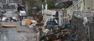 Storm-Damaged Communities On East Coast Face Nor'Easter Storm