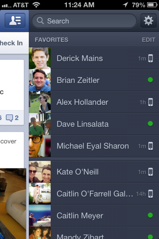 Facebook messenger for iOS 5.1