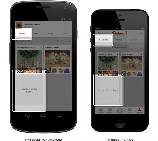 This New App Lets You Play And Compete To Design Your: Pinterest Gets Secret Boards, Android, IOS Apps Get