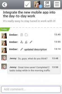 3 wrike task view iphone 220x330 Fresh from its $1m funding round, Wrike takes its social project management tool to iOS and Android