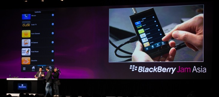 BBJamAsia2012 GeneralSession IMG 1777 730x324 RIM opens Built for BlackBerry program, reveals Qwerty BB10 Alpha device, rebrands app store