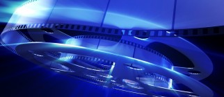 Magic movie. Abstract background