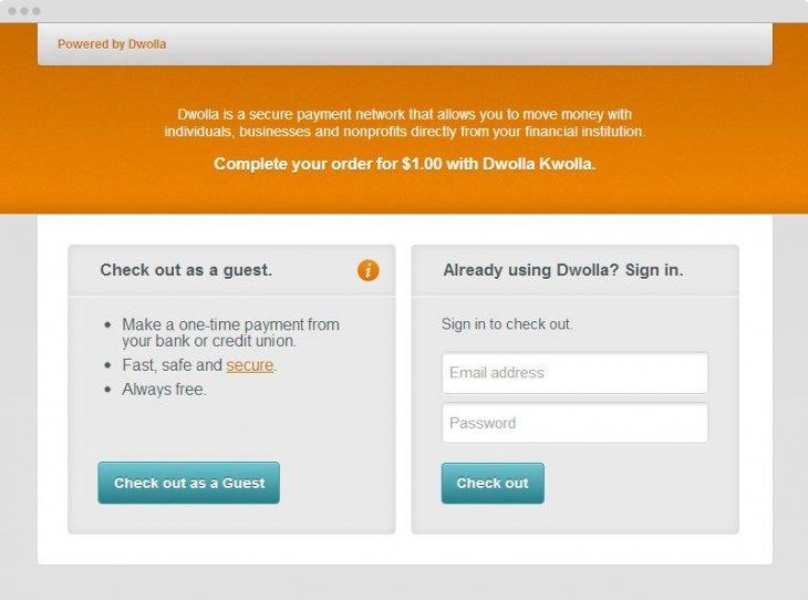 Dwolla now lets you pay without signing up, takes a stab at PayPal with low 25¢ fees