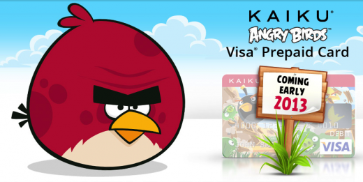 KAIKU Angry Birds Visa Prepaid Card 101242 520x261 Rovio teams up with Kaiku to launch prepaid Angry Birds debit card in the US; coming early 2013