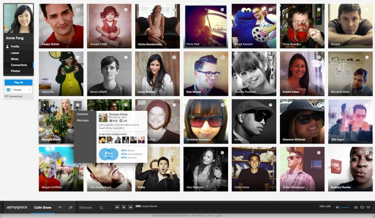 New Myspace Connections Affinity1 730x425 Myspace burning: As new site rolls out, how it hopes to rise from the ashes and back into prominence