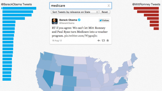 Screen Shot 2012 11 01 at 10.51.34 AM 520x291 Twitter launches new visualiztion tool to track engagement with election topics across the United States