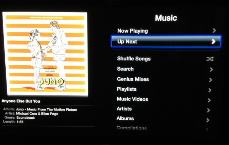 Screen Shot 2012 11 29 at 2.51.18 PM 730x463 Apple TV 5.1.1 update brings support for Up Next song queue to iTunes Match and Computer sections