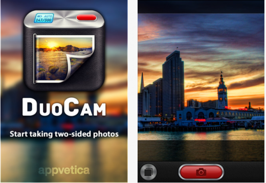 Screenshot 11 520x359 Two sided snaps: DuoCam for iOS takes front and rear facing camera shots simultaneously