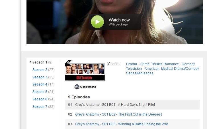 Screenshot 18 LoveFilms website gets a search makeover, letting you switch episodes and seasons from a single page