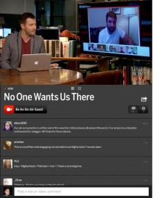 Screenshot 22 220x285 The Huffington Post takes its social video streaming network   HuffPost Live   to the iPad
