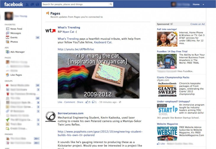 Facebook confirms dedicated Pages Feed section rolling out, shows you only content from pages
