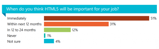 Snap 2012 11 05 at 01.10.23 520x160 HTML5 use is real: majority of developers find it important for their jobs in next 12 month [Study]