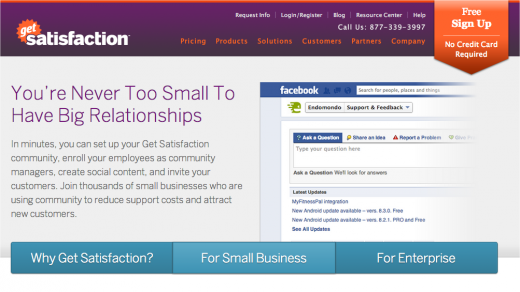 Snap 2012 11 14 at 08.16.18 520x292 Free Get Satisfaction is back: moderation, Hootsuite, other features added to make it useful for SMBs