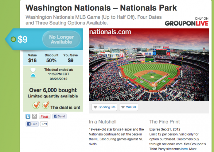 Snap 2012 11 29 at 09.03.20 730x518 Groupon partners with Major League Baseball to become its official daily deals site for its 30 clubs