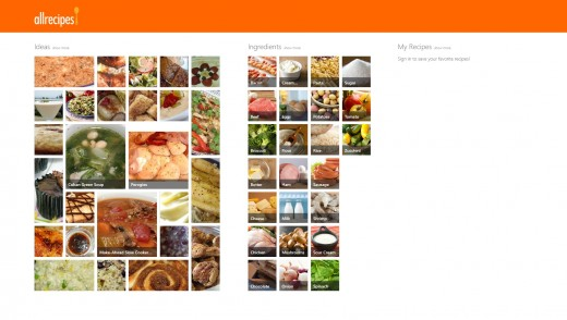 allrecipes 520x294 25 inspiring Windows 8 app designs